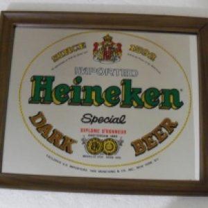 heineken dark beer mirror
