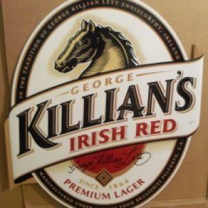 killians irish red tin sign