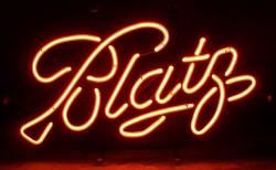blatz beer neon sign