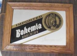 bohemia beer mirror