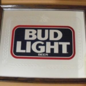 bud light beer mirror