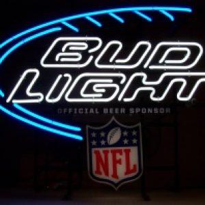 bud light beer nfl neon sign