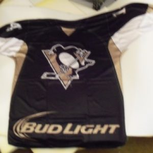 bud light beer nhl penguins jersey flag