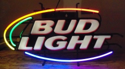 Bud Light Beer Rainbow Neon Sign  MY BEER SIGN COLLECTION – Not for sale but can be bought… budlightrainbowpanel2002