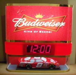 budweiser beer nascar earnhardt clock light