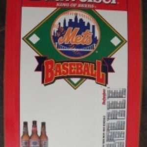 budweiser beer mlb mets sign
