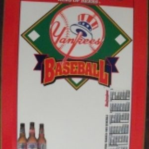 budweiser beer mlb yankees sign
