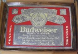 budweiser beer mirror