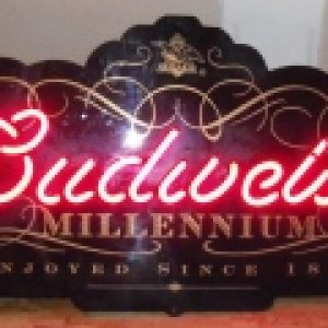 budweiser beer millennium neon sign