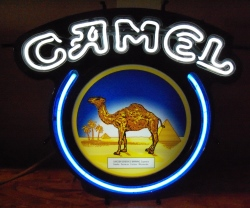 Camel Cigarettes Neon Sign  MY BEER SIGN COLLECTION – Not for sale but can be bought… camel2000