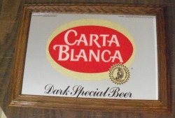 carta blanca beer mirror