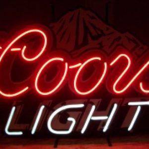 coors light beer neon sign