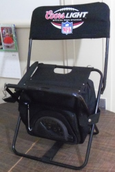 coors light beer nfl chair