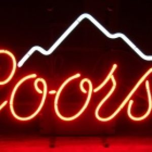 coors beer neon sign
