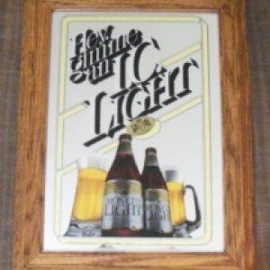 iron city light beer mirror