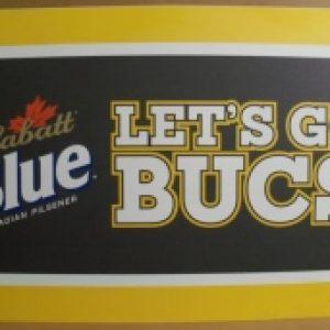 labatt blue beer tin sign