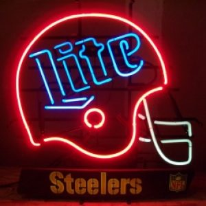 lite beer nfl steelers neon sign