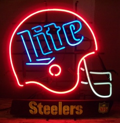 lite beer nfl steelers neon sign