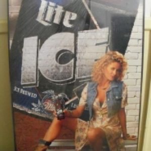 lite ice beer sign