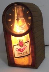 miller high life beer clock