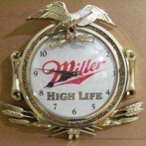 miller high life beer clock