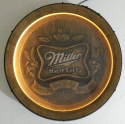 miller high life beer barrel light