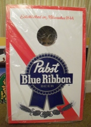 pabst blue ribbon beer corn hole set