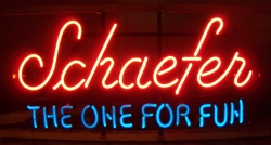 schaefer beer neon sign beer sign collection My Beer Sign Collection 2 – Not for sale but can be bought… schaefertheoneforfun
