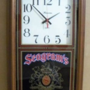 Seagrams Mixers Bar Clock