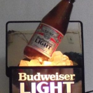 budweiser light beer back bar display