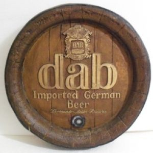 dab beer barrel sign