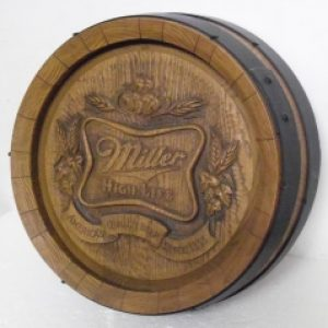 miller high life beer barrel sign