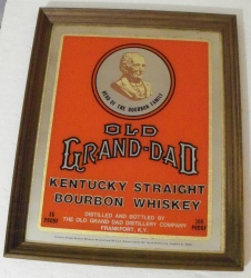 old grand dad whiskey mirror