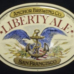 anchor liberty ale tin sign