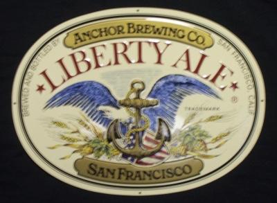 anchor liberty ale tin sign