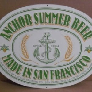 anchor summer beer tin sign