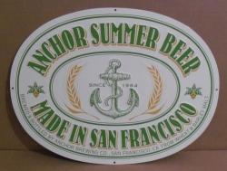 anchor summer beer tin sign