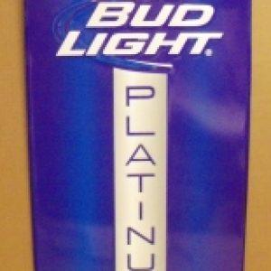 bud light platinum beer tin sign