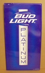 bud light platinum beer tin sign