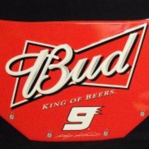 budweiser beer nascar tin sign