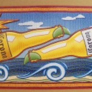 corona extra light beer tin sign