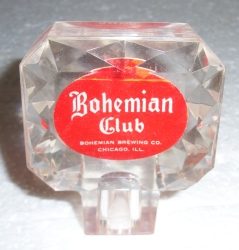 bohemian club beer tap handle