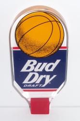 bud dry draft beer basketball tap handle