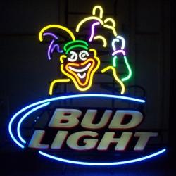 bud light beer mardi gras neon sign