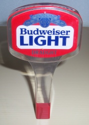 budweiser light beer tap handle