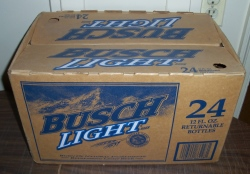 busch light beer case
