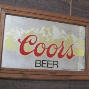 coors beer mirror