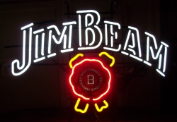 jim beam whiskey neon sign