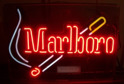 marlboror cigarettes neon sign
