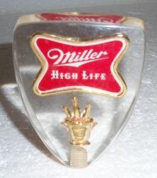 miller high life beer tap handle